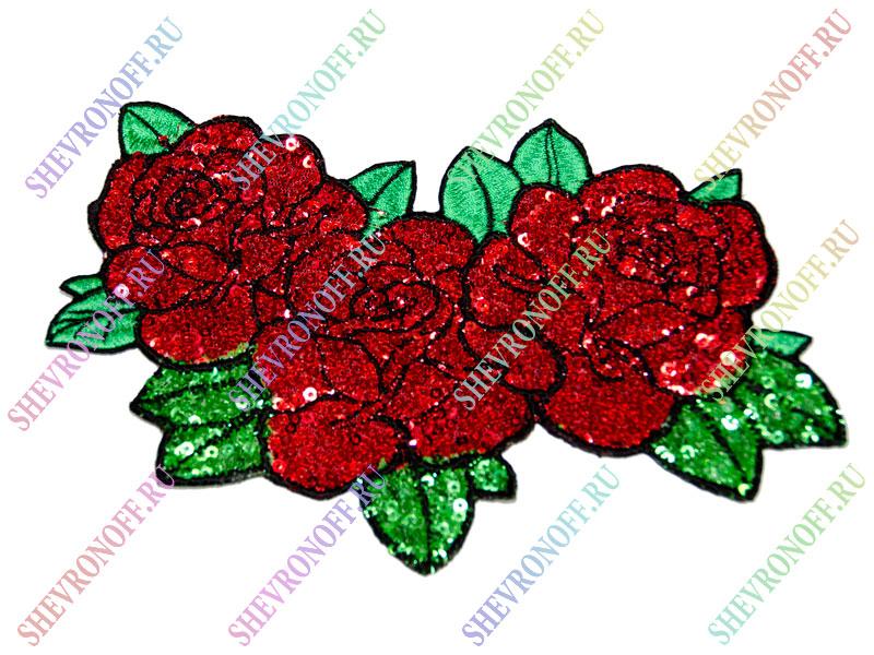 Схема вышивки розы пайетками 57