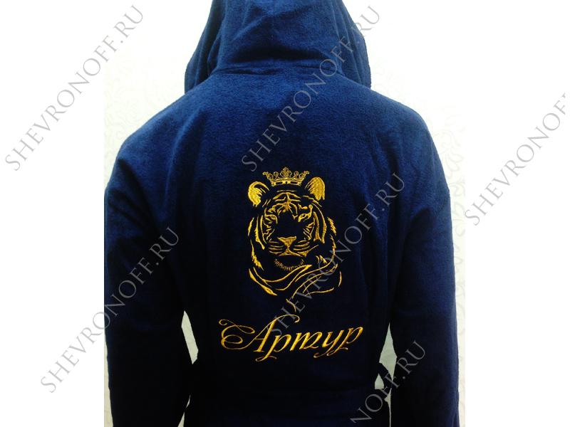 Халат с вышивкой льва 31