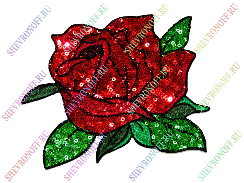 Схема вышивки розы пайетками 23