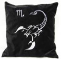 Подушка с вышивкой знаков зодиака