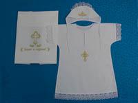 Вышивка на крестильной рубашке